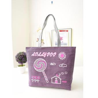Túi xách tone vải đeo vai SPH-CANDY01(TÍM)
