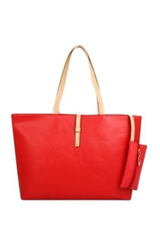 Fancyqube New Korean Female Bag Simple Shoulder With Purse Bag Fashion Casual Shoulder Bag Drop Shipping Red - Intl