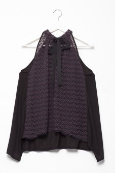 Áo yếm Free People Rock It Victorian (Đen)