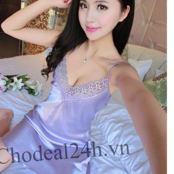 Đầm Ngủ Phi Bóng Ren Ngực Cdanp02