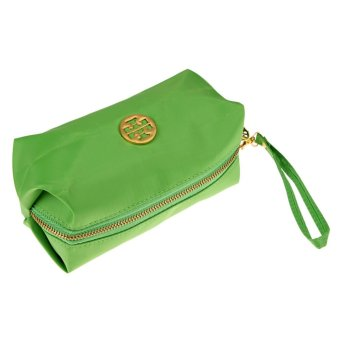 Ms. Cute Candy Colored Purse Cosmetic Bag Waterproof Makeup Hand (Green) - intl