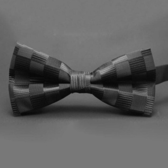 Moonar Men Adjustable Silk And Rayon Satin Dot Tuxedo Classic Party Novelty Bow Wedding Ties ( #3 ) - intl