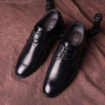 Giày tây nam cột dây kim loại Đen SM051 (Đen)