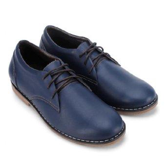 Giày mọi nam Huy Hoàng cột dây xanh (Đen)