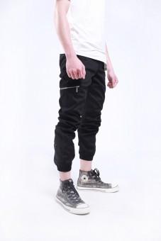 Quần jogger kaki nam zipper túi trước QV015