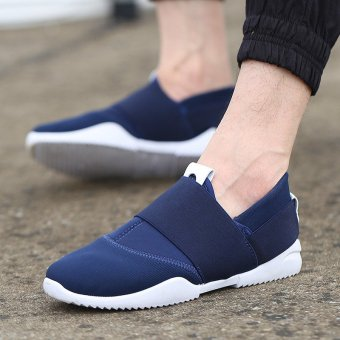 New Men's England Canvas Casual Sneakers Sport Breathable Running Shoes Trainers Blue - intl