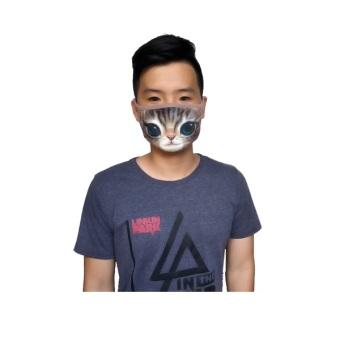 Khẩu Trang In Hình Thú 3D Cao Cấp (Hình Mèo Nâu) .