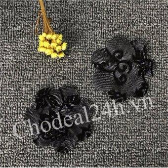 Bộ 10 miếng dán ngực vải ren dùng 1 lần (đen)