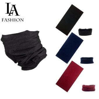 Combo 3 Khăn đa năng nam nữ thể thao dành cho phượt thủ - Chất liệu sợi siêu mịn polyester - Kích thước 25x48 cm (Đen, xanh rêu, đỏ đô)