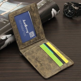 Fashion Mens Canvas Bifold Wallet Credit/ID Card Holder Slim Coin Purse Pocket coffee - Intl