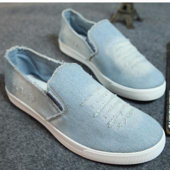 Giày luời vải bò nam - GB03 ( xanh )