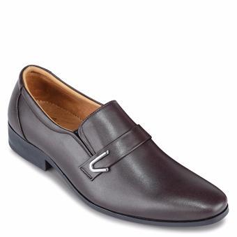 Giày Tây Nam Da Bò SunPoLo KS116N (Nâu nhạt)