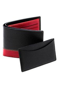 Ví nam LADA TP002 (Đen) + Tặng ví đựng danh thiếp (Đỏ đô)