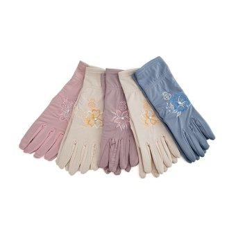 Bộ 5 đôi găng tay thun thêu hoa