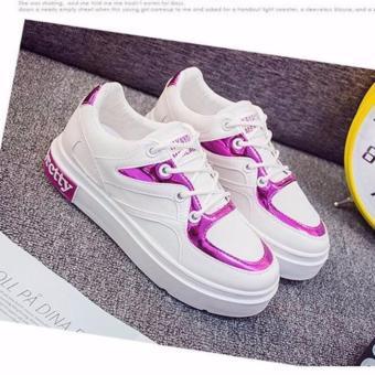 Giày thể thao hồng giả da-2017-GTTH9733