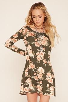 Đầm Hoa Forever21 (Xanh)