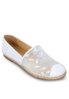Giày Slip On Ren trắng SCALA