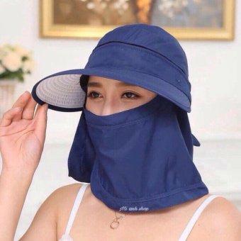 Mũ(nón) tránh nắng kèm khẩu trang 0502-xanh lam
