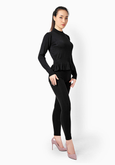 Áo Nữ Lửng Xòe Nẹp Đai Lưng