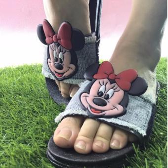 Dép nhựa+quai jean Mickey 3D- siêu xinh