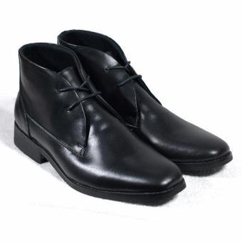 Boots cột dây nam Tathanium Footwear TFBKL8811 (Đen)