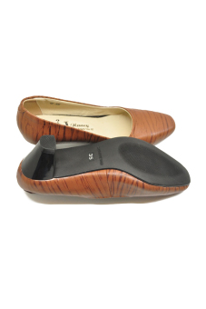 Giày da nữ mũi vuông gót 5p 505N