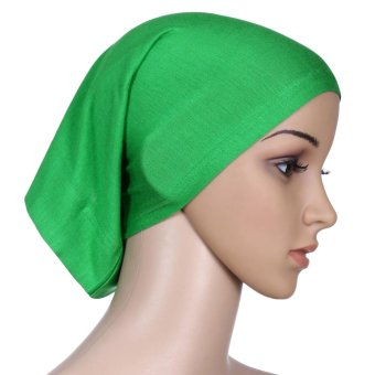 New Fashion Muslim Hijab Turban Islamic Bonnet Underscarf Inner Cap Solid Color Tube Hat Elastic Headwear - intl