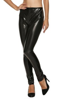 Cyber Women High Waist Skinny Stretch Slim Leggings (Black) - Intl