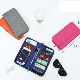 Ví đựng điện thoại, giấy tờ, treo chìa khóa ...khi đi du lịch DDL5 (Xám)