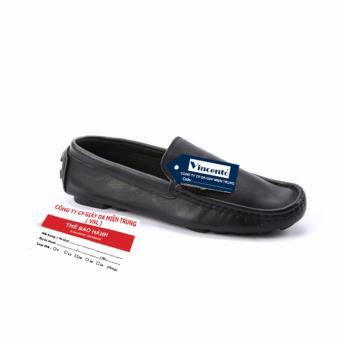 Giày lười nam Da Thật Cao cấp chính hãng Giày Da Miền Trung chính hãng VCTMN1LZD188D-1 (Đen )