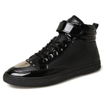 High Quality Men 's High Top Sports Shoes Fashion Shoes Trend Rivets Board Shoes Metal - intl