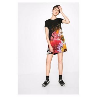 Đầm Ngắn Tay Họa Tiết Hoa Desigual Dress Mc Dress Luka 71V2EX02000