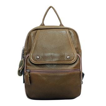 Túi xách ba lô da bò màu xanh rêu ETM336