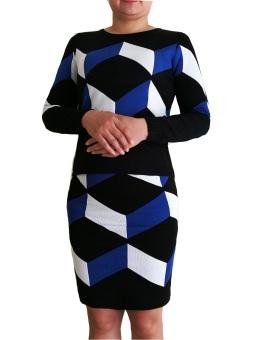 Bộ váy áo len rời TQ1801-2