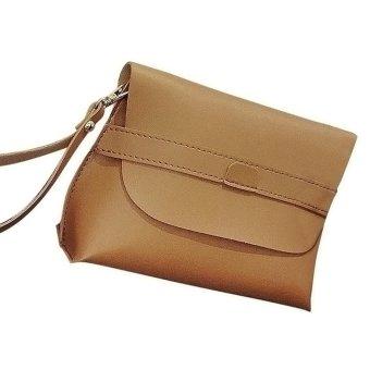 Women Fashion Handbag Shoulder Bag Tote Ladies Purse Brown - intl