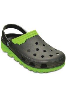Giày sục nam Crocs Duet Max Clog Graphite Volt Green 201398-0A1 (Đen phối xanh)