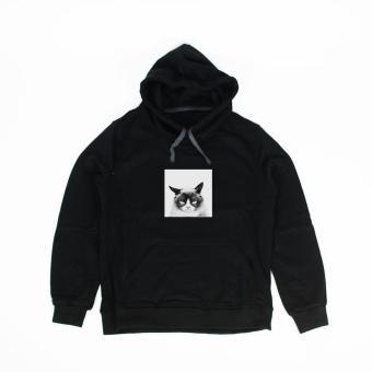 Áo khoác hoodie nữ in hình Monday Morning (đen)