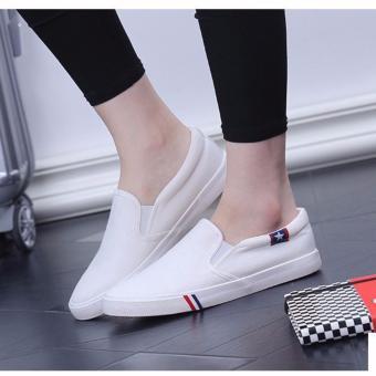 Giày Lười Nam Hình Sao L&A Fashion (trắng)