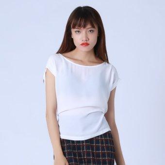 Áo Trắng Buộc Nơ Kim Fashion KFA0126 (Trắng)