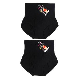 Bộ 2 quần lót gen lưng cao Akio 8126 – Bộ 2 quần lót gen lưng cao (Đen)