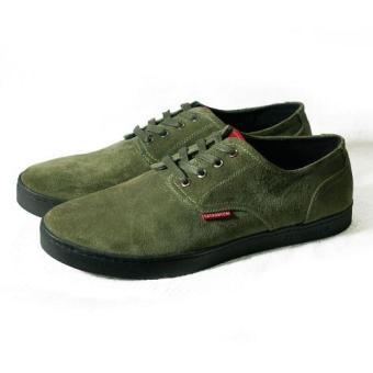 Sneakers cột dây Tathanium Footwear TFOLS3305 (Xanh rêu)