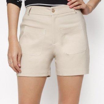 Quần short kaki nữ MINT Basic (Kem)