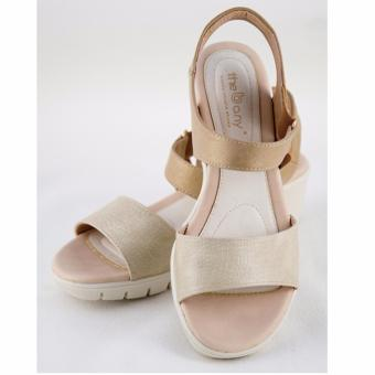 [The bany] Sandal đế xuồng 5cm quai ngang màu be