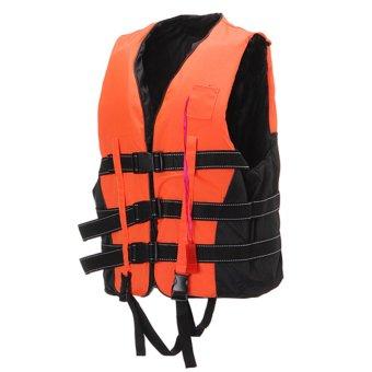 Life Jacket Vest PFD Fully Enclose Foam Adult Boating Size XL + Whistle - intl