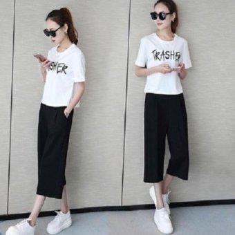 Set đồ bộ trắng đen FH3002