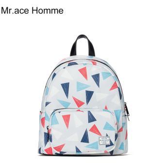 Balo Thời Trang Mr.ace Homme MR16B0265B01 / Trắng phối họa tiết
