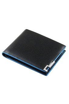 Bluelans Mens Leather Wallet Card Clutch Purse Pockets Cente Money Clip (Intl)