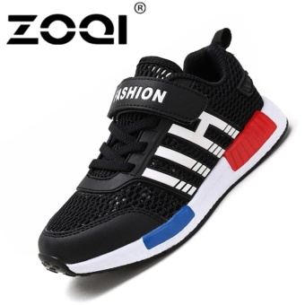 Boys Fashion Sneaker Sport Shoes Light Breathable Casualshoes (Black) - intl