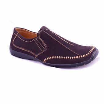 Giày Lười Da Thật Chính Hãng Giày Da Miền Trung VCTH2LZD08-1 (Nâu)