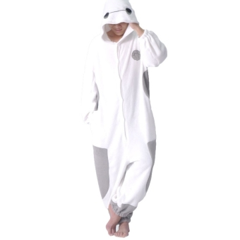 Big Hero 6 Baymax Kigurumi Pajamas Cosplay Costume for Lovers - intl